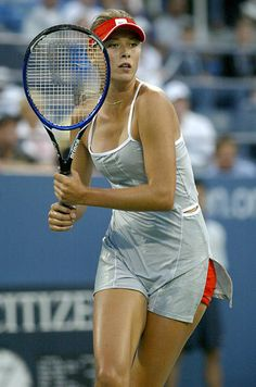 Maria Sharapova during her second round match against Jelena Jankovic at the 2004 US Open in the USTA National Tennis Center in New York on September Rubin won the match Maria Sharapova Hot, Sharapova Tennis, Weather Girl Lucy, Tennis Uniforms, Maria Sarapova, Tennis Photography, Tennis Wear, Tennis Players Female, Female Gymnast