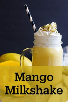 Mango Milkshake, Vanilla Milkshake, Homemade Milkshake, Milkshake Recipes, Best Milkshakes, Refreshing Summer Drinks, Mango Recipes, Best Shakes, Pistachios