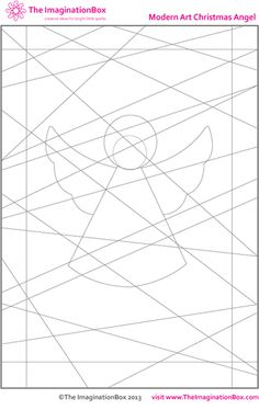 The Imagination Box, Christmas Modern Art Angel, free download colouring activity
