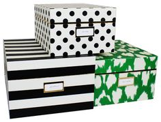 Kate Spade New York Nesting Boxes, Set of 3 contemporary-decorative-boxes