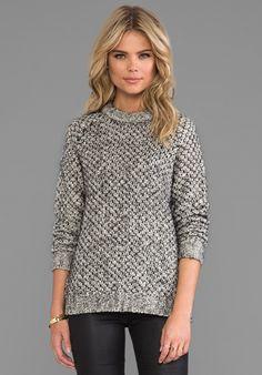 THEORY Zambra Chunky Sweater in Black Multi - New