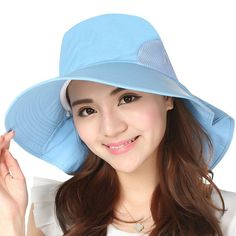 7ee396f1f66 Jemis Women s Big Brim Summer Hat with Neck Cover (beige) at Amazon Women s  Clothing · Sun Hats ...