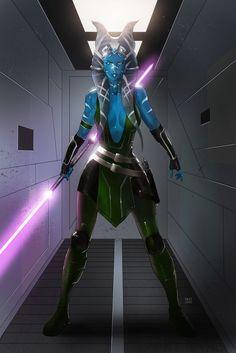 Star Wars Togruta Jedi Zeyala Aldonia (Commission) by KaRolding.deviantart.com on @DeviantArt