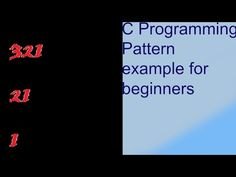pattern in c programming example for beginners