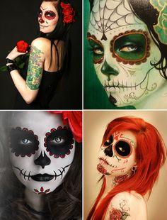 day of the dead makeup @Raelynn Dalquist Ramirez
