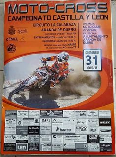 Este Domingo, campeonato de #motocross en #ArandadeDuero, circuito La Calabaza