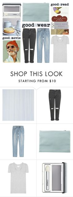 """lil favorite things"" by foundlostme ❤ liked on Polyvore featuring Topshop, Marc by Marc Jacobs, CÉLINE, Garcia, Velvet, Clinique, denim, grey, allaboutme and Tshirt"