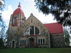 10501610_718287381564397_597385288054283682_n.jpg (736×552)   Art Nouveau Church in Vuolijoki / Finland. Build in 1905-1906.