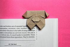 Piegare un bulldog segnalibro origami | How About Arancione