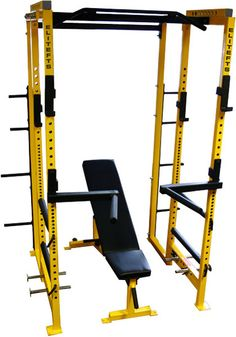 Elite FTS - Power Rack - R2 2x2 Combo Rack    Add weights, bars, and platform.  Get a gym