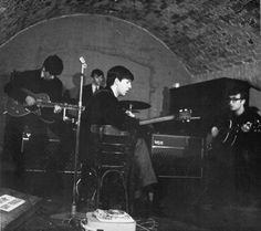 The Beatles, The Cavern Club, Liverpool, England (photo by Mike McCartney).