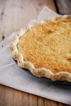 buttermilk pie in a cornmeal & lard crust by Beth Kirby | {local milk}, via Flickr