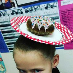 Donut hair is the latest style for men, women, and long-haired dogs.