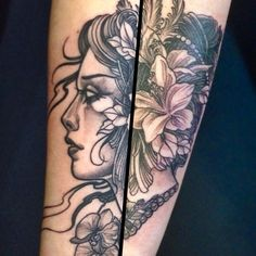 Image result for neo traditional tattoo black and grey