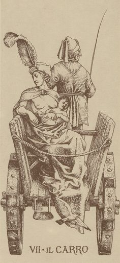 The Chariot - Tarot Dürer by Giacinto Gaudenzi. This card symbolizes one of the stages of the Fool's Journey towards self-discovery. The Fool stands for all of us. Albrecht Durer, The Chariot Tarot, Le Tarot, Great Paintings, Major Arcana, Illustration, Oracle Cards, Old Art, Tarot Decks