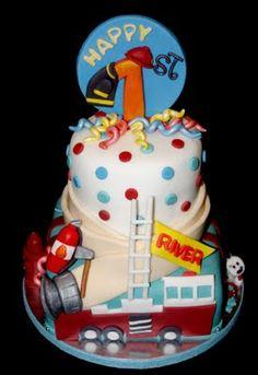 'A Fireman's Celebration' Birthday Cake   Shared by LION