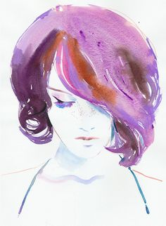 Watercolour Fashion Illustration  Violaa by silverridgestudio, $200.00