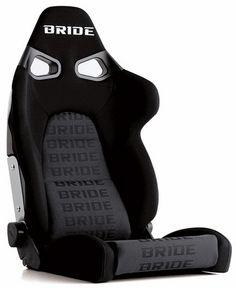 Subaru Impreza Bride Vorga Black Logo Reclining Seat