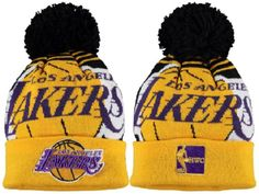 6e1c549d378e2 2017 Winter NBA Fashion Beanie Sports Fans Knit hat Lakers Cap