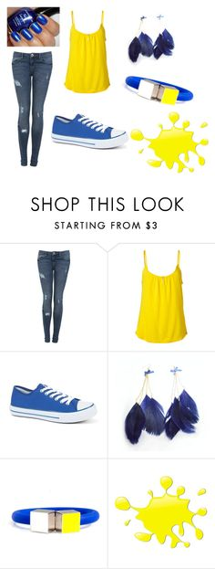 """""""Blue with yellow<3."""" by karina-bm ❤ liked on Polyvore featuring Miss Selfridge, Juicy Couture, Delfina Delettrez and CO"""