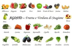 August fruit and vegetables
