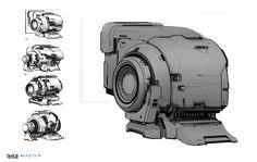 ArtStation - War zone home base for Halo 5 Guardians, Sam Brown