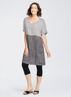 Product image: Beachcomber Dress Tattersall in Discounted Flax Sale [FLAX Clothing NEW ]