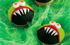monster cupcakes: halloween