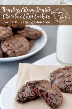 I'm pretty sure these will become your all time favorite low carb cookie. Think low carb brownie meets perfect keto cookie. It's a marriage made in chocolate heaven. Keto Flourless Chewy Double Chocolate Chip Cookies Source by mpmattox and me ideas Bakers Chocolate, Double Chocolate Chip Cookies, Chocolate Heaven, Flourless Chocolate Chip Cookies, Making Chocolate, Dessert Chocolate, Low Carb Chocolate, Chocolate Orange, Chocolate Chocolate
