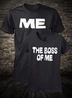 Husband and Wife Shirts Me and The Boss Of Me by FunhouseTshirts, $29.99