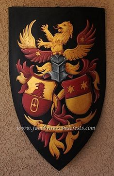 Coat of Arms medieval knight shield custom hand painted knight shield