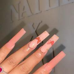 Long Square Acrylic Nails, Acrylic Nail Tips, Acrylic Nail Shapes, Blue Acrylic Nails, Cute Acrylic Nail Designs, Simple Acrylic Nails, Summer Acrylic Nails, Wow Nails, Nails Now