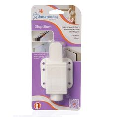 Dreambaby Stop Slam by Dreambaby. $6.80. The Dreambaby Stop Slam Helps Prevent Doors From Slamming Shut. The Locking Mechanism Comes Into Action If A Door Is Closed With Force, But Eases If A Door Is Closed Safely To Allow The Door To Operate Normally