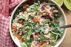 Skinny Six: Frisse bonen-boekweitsalade, een gezonde en snelle salade om van te smullen! #skinnysix #skinny #healthy