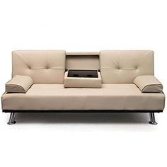AHOC New Modern Cinema White Ivory Cream Faux Leather 3 Seater Sofa Bed 12 Months Guarantee With Fold Dow Converts from Sofa to Bed in seconds. Sofa Bed can be in 3 positions of Seated, Reclined and Flat (as a bed). Fitted with easy to use click clack mechanis (Barcode EAN = 8800157320226). http://www.comparestoreprices.co.uk/december-2016-6/ahoc-new-modern-cinema-white-ivory-cream-faux-leather-3-seater-sofa-bed-12-months-guarantee-with-fold-dow.asp
