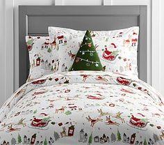 holiday bedding christmas bedding sets pottery barn kids - Christmas Bedding Sets