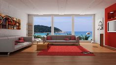 Red Carpets in Modern Living Room Decor Ideas
