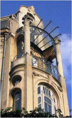 25 Most Beautiful Art Nouveau Architecture Design - Rockindeco Architecture Design, Architecture Art Nouveau, Amazing Architecture, Building Architecture, Building Design, Art Deco, Art Nouveau Design, Art Design, Design Ideas