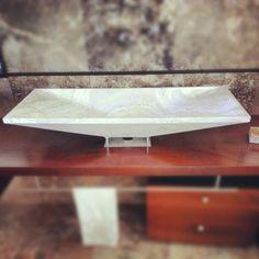 """Design #sink """"Radda"""" from Pietre di Rapolano by Architect Lorenzo A. Polvani    Also available as composition:  http://www.pietredirapolano.com/radda-mobile-da-bagno/"""