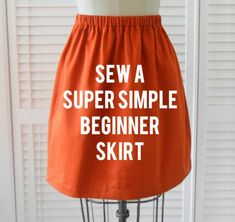 Sew a Super Simple Beginner Skirt
