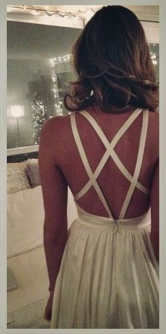 White strappy dress