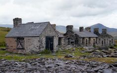 Rhos Slate Quarry - Quarry Buildings (Aug Rhos Slate Ouarry, near Pony Cyfyng, Capel Curig, Snowdonia, North Wales. Map Ref Open Link for detail and more images. Snowdonia, Cymru, Slate, United Kingdom, Cabin, Wales Map, Buildings, House Styles, North Wales