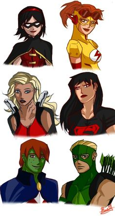 Genderbend Young Justice... I usually never go for these, but I'm kind of loving this.
