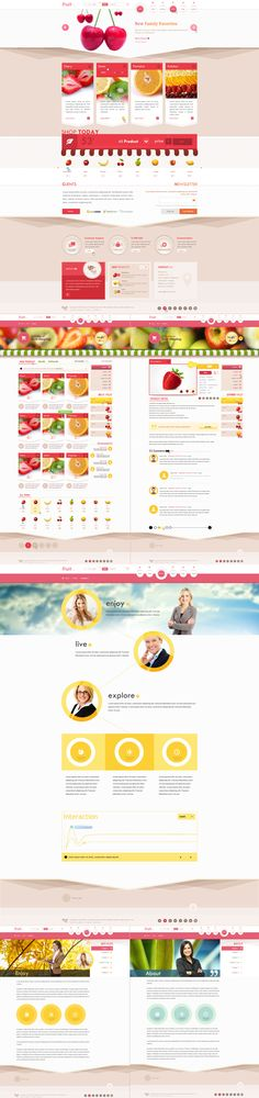 Fruit Shop (psd template) by ~trcakir on deviantART