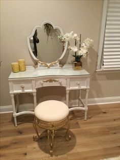 Antique vanity refinished with chalk paint