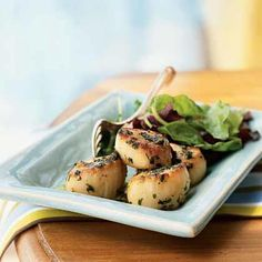 Sauteed Scallops with Parsley and Garlic Recipe