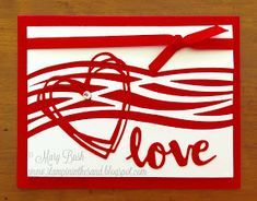 Stampin' in the Sand: Card: Swirly Wishes Of Love Valentine Greeting Cards, Stampinup, Project Life Cards, Bird Cards, Heart Cards, Homemade Cards, Homemade Wedding Cards, Halloween Cards, Cool Cards