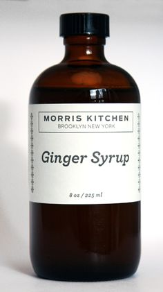 morris kitchen ginger syrup: the ultimate
