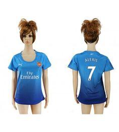 Arsenal Alexis Sanchez 7 Bortatröja Dam 17-18 Kortärmad Ozil Mesut, Manchester United, Arsenal, Sports, Tops, Fashion, Velvet, Hs Sports, Moda