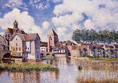 Alfred Sisley (1839-1899) - Moret sur Loing the Porte de Bourgogne,1891